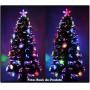�rvore de Natal 1,80 Mts com Fibras �ticas e Leds Coloridos + Enfeite de Acr�lico - Magazine Legal