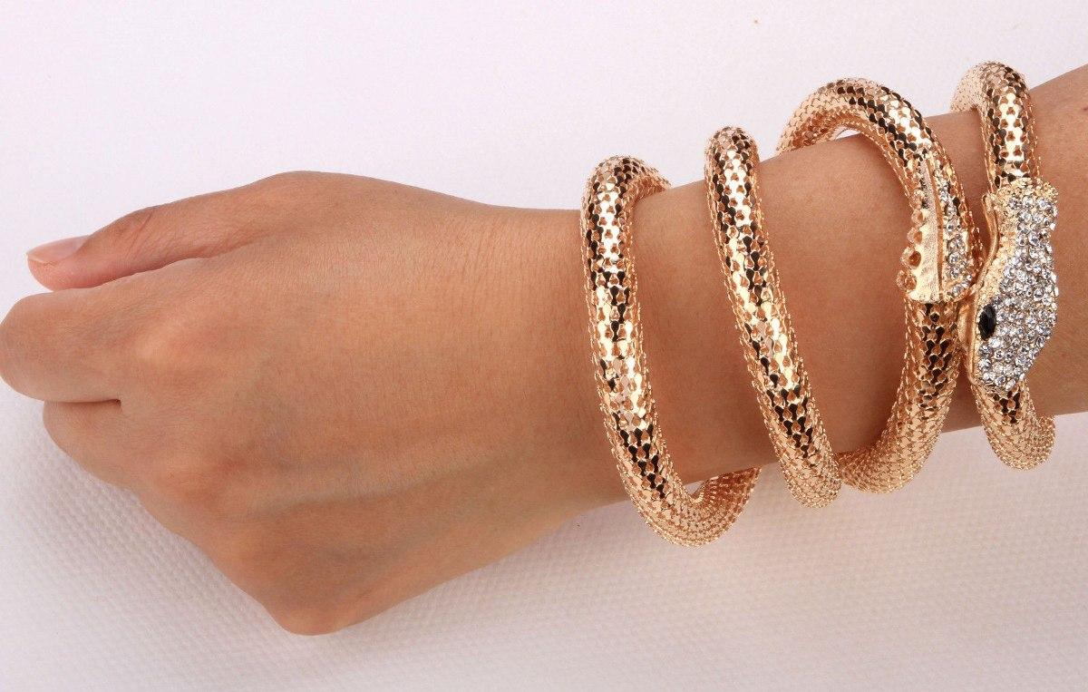 3 em 1 Cinto Bracelete e Colar Cobra - Frete Grátis