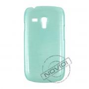Capa R�gida com Efeito Escovado para Samsung Galaxy S III Mini I8190 - Cor Verde 1
