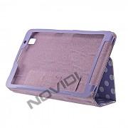 Capa Smart Cover Dobrav�l com Bolinhas Samsung Galaxy TabPro 8.4 T320 - Cor Lil�s / Branca