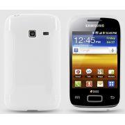 Capa TPU Premium + Pel�cula protetora para Samsung Galaxy Ace Duos S6802 - Cor Transparente
