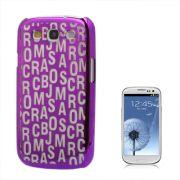 Capa Personalizada S�rie Alfabeto para Samsung Galaxy S3 S III i9300 - Roxo