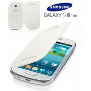 Capa em couro flip para Samsung Galaxy S III Mini I8190 - EFC-1M7BWEGSTDI - Cor Branco