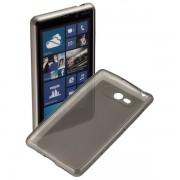 Kit Capa de TPU Premium + Pel�cula Transparente para Nokia Lumia 820 - Cor Grafite