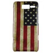 Capa colorida s�rie Bandeira envelhecida USA para Motorola Razr i XT890