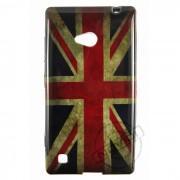 Capa Personalizada Bandeira Envelhecida Inglaterra para Nokia Lumia 720