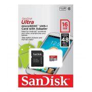Cart�o de Mem�ria Sandisk Micro SD 16GB Classe 10 com Adaptador