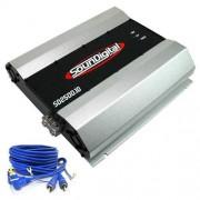 M�dulo amplificador SounDigital SD2500.1D 1ohm + Brinde 1 Cabo RCA de 5m