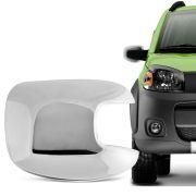 Aplique Cromado para Retrovisor Fiat Uno Atractive 2010 em diante Lado Esquerdo