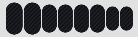 Protetor para quadro Lizard Skins Carbon - Patch Kit Carbon Leather