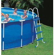 Escada para Piscina Intex 122 cm de altura cor Azul #28062