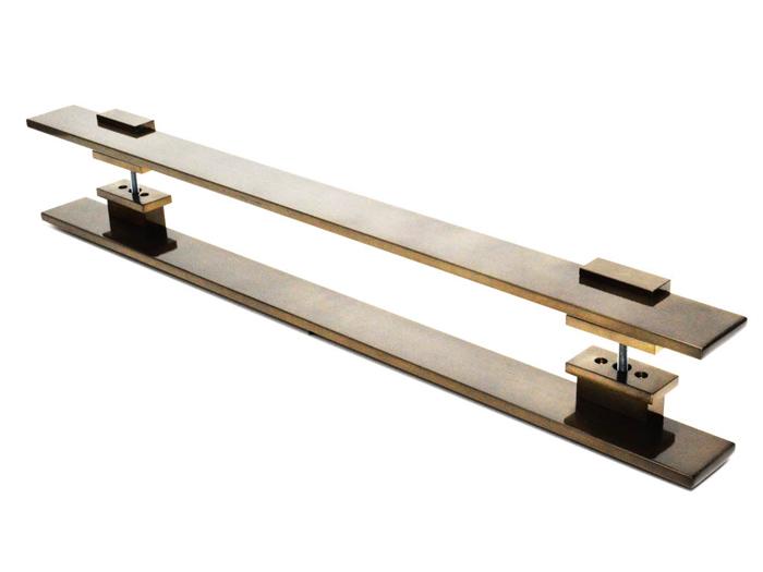 Puxador Para Portas Duplo A�O INOX  OURO VELHO ANTIQUE (TAURUS). Para portas Pivotante /Madeira /Vid
