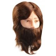 Cabe�a Cabelo e Barba 100% Natural para Treino de Corte Masculino