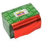 Papel Alum�nio Vermelho Para Cabelos Rolo 16Micras - 01 Unidade