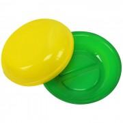 Saboneteira Pl�stica Redonda Verde e Amarelo Brasil
