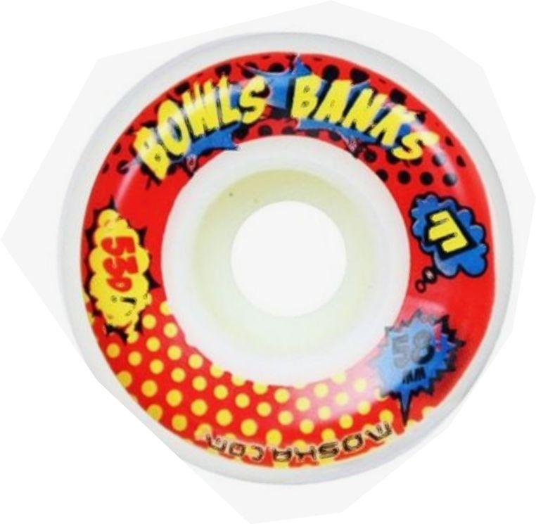 Roda Moska 58 mm - Bowls Banks -Branca