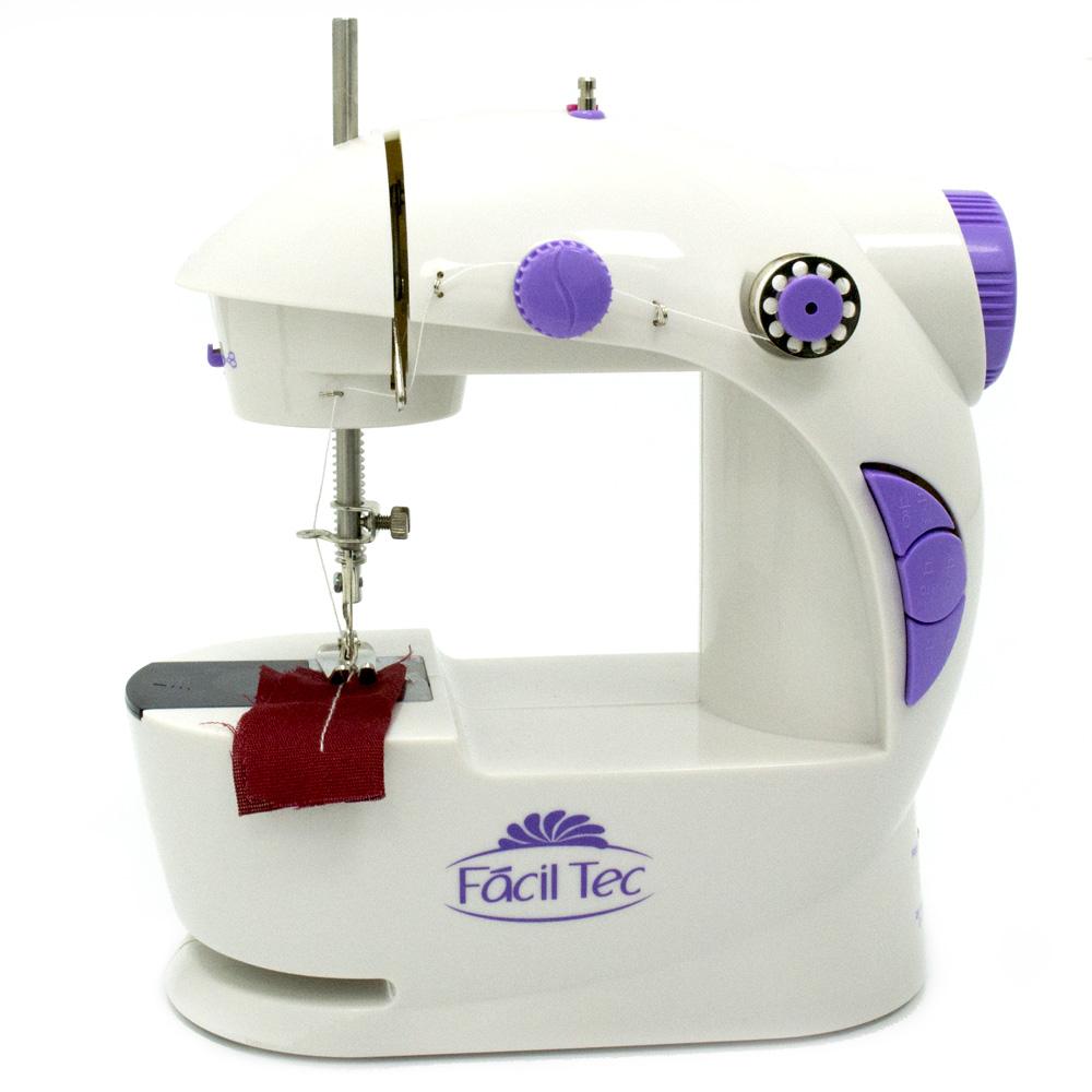 Mini M�quina de Costura Port�til com Luz e Bobinas - Selo do INMETRO