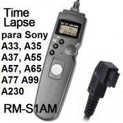 Cabo Disparador Remoto Time Lapse para Sony RM-S1AM TC1003