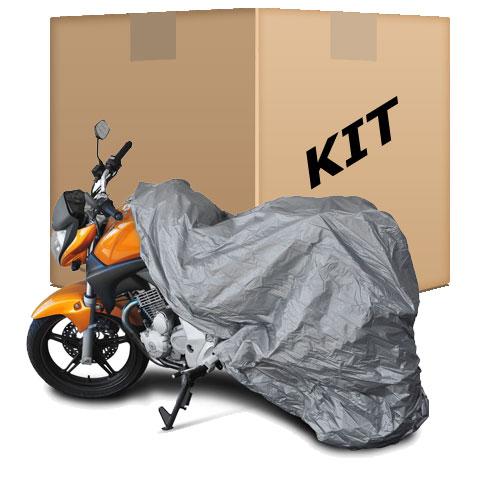 Kit 10 Capas Protetoras p / Cobrir Moto ( 100% Impermeável ) - M