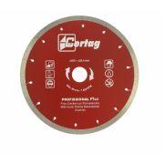 Disco de Corte Diamantado Continuo Profissional Plus - 200 x 25mm CORTAG