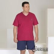 Pijama Plus Size Listrado Modo Avi�o  - 07666