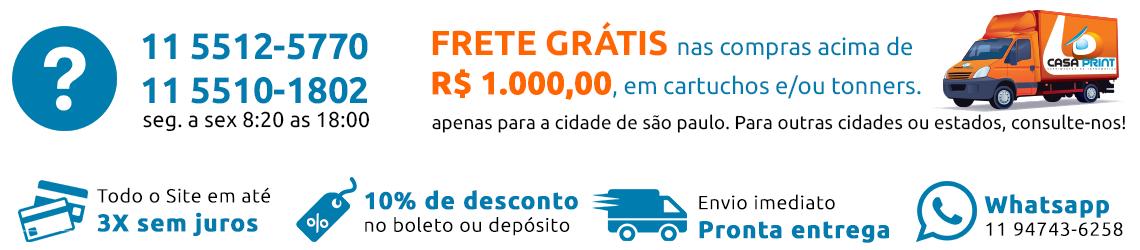 frete gr�tis nas compras acima de r$ 1.000,00, em cartuchos e toners.