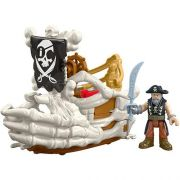 Imaginext Medio Pirata Barco do BILLY Bones Mattel DHH64/DHH65
