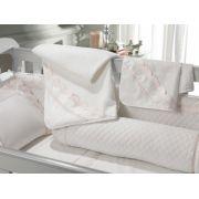 Toalha com Capuz Piccoli Branco/Soft Nude Trussardi Baby