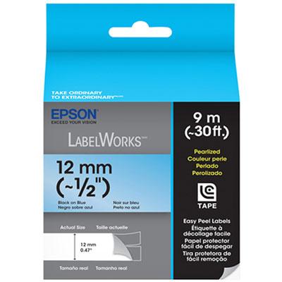 Fita Rotulador Epson LC - 4LBL9 12mm Preto / Azul