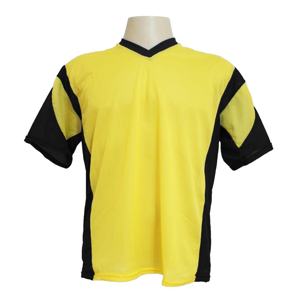 Jogo de Camisa Promocional Modelo Attack Amarelo/Preto com 12 Pe�as Numeradas - Frete Gr�tis Brasil
