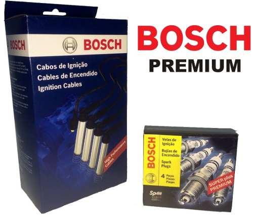 Kit Cabos E Velas Bosch Audi A3 VW Golf 1.6 2.0 Polo 2.0 F00099C078 | F000KE0P06 consulte a aplicação