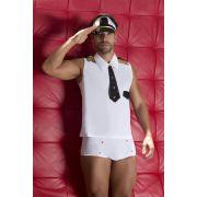 Fantasia Masculina Er�tica Piloto de Avi�o Comandante Sedutor Adulto - GV403