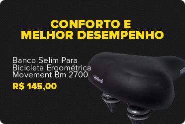 banco selim para bicicleta ergom�trica movement bm 2700