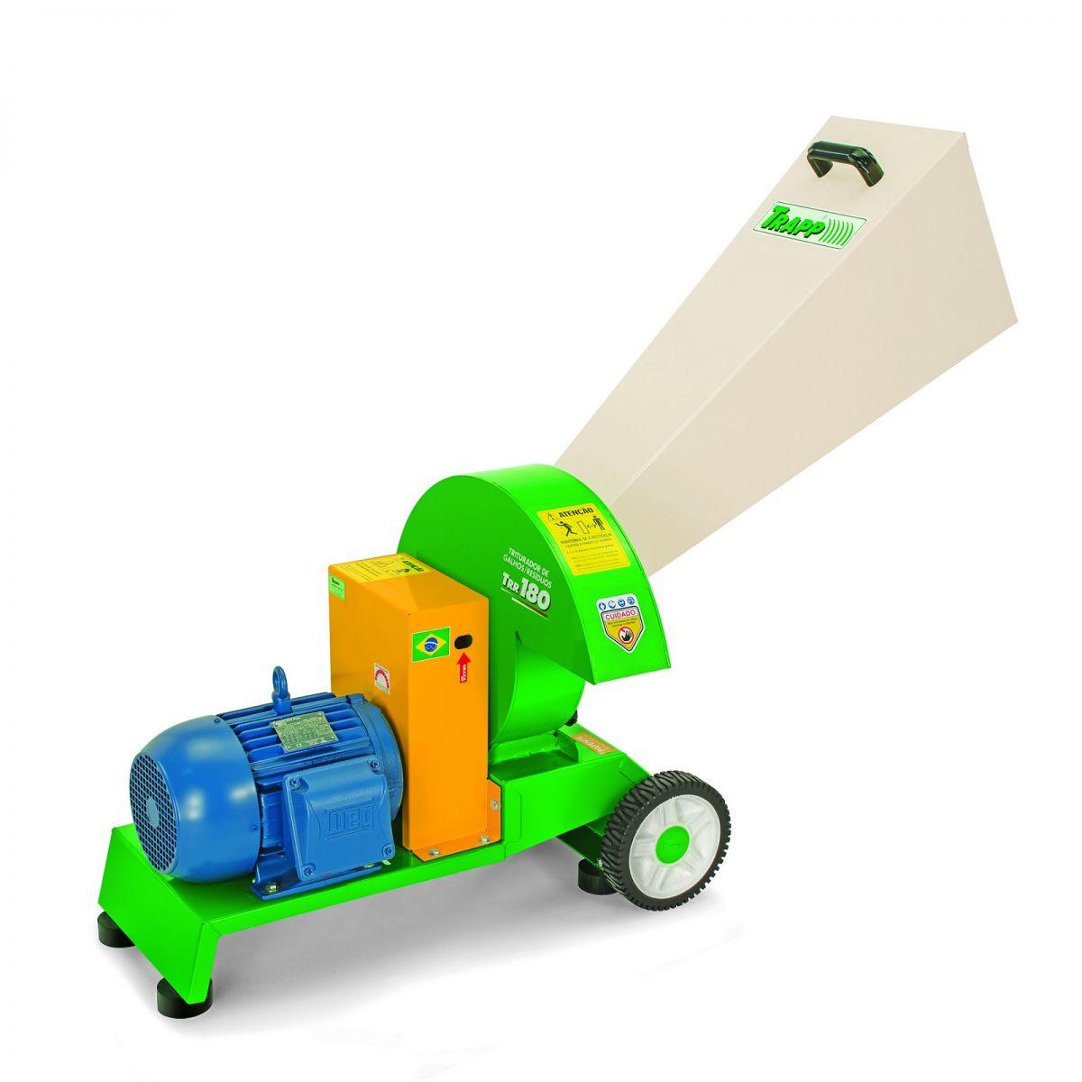 Triturador de Galhos e Resíduos TRR 180 220 / 380V Trif - Trapp