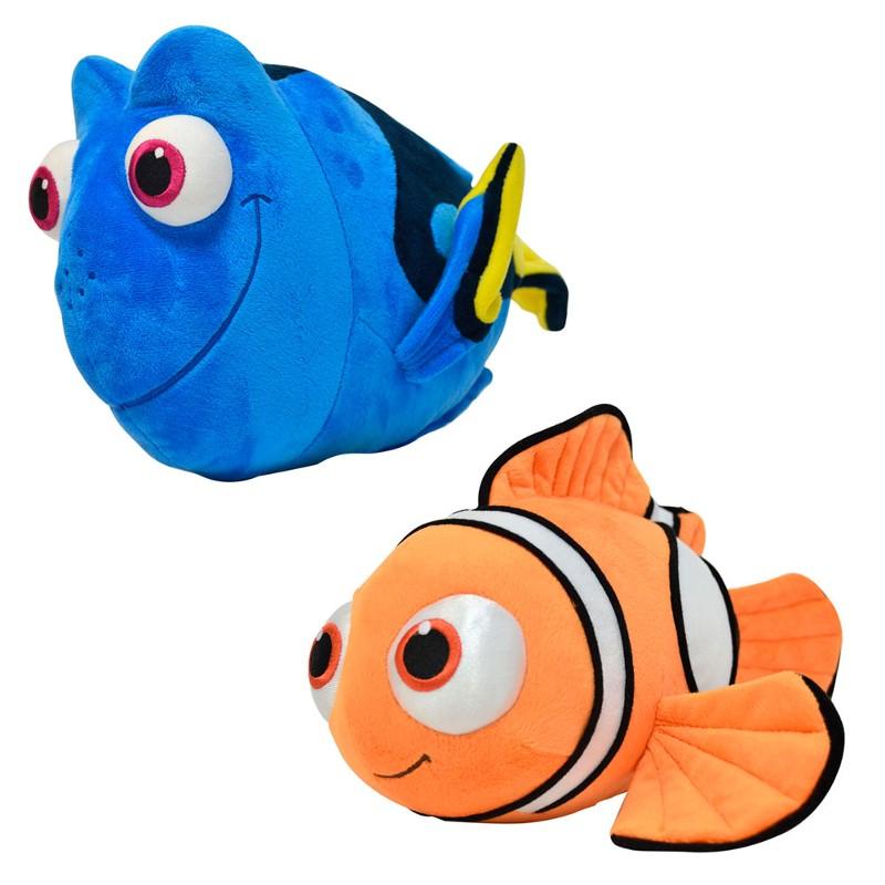 Conjunto com 2 Pelúcias 38 cm Disney Procurando Dory Nemo e Dory Sunny Ref. 1440 / 1441