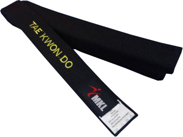 Faixa Preta - Taekwondo - 10 Costuras - Bordada - MKL