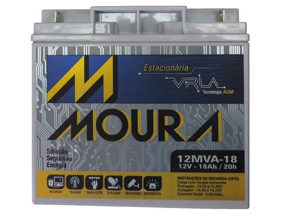 Bateria 12v 18ah Estacionária ( selada ) Moura VRLA p / Nobreak
