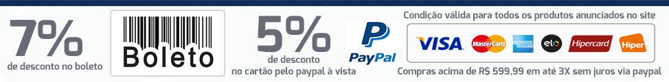 condi��es especiais pagamento � vista ou paypal