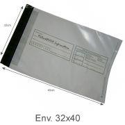 Envelope Pl�stico Seguran�a Lacre Tipo Sedex Impresso 32x40 (100pcs)