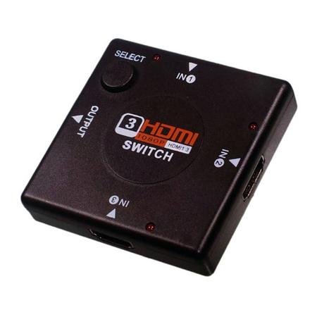 Adaptador Switch HDMI 1x3 Divisor 3 portas Hub para PS4 PS3 XBOX360 TV Tablet Bluray Knup KP - 3456