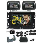Central Multimidia Jeep Renegade Com DVD GPS M1 + C�mera R� Gr�tis + 2 Encostos + Sensor Estacioname